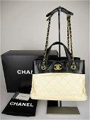"""CHANEL"""" Two-tone matelassé shoulder bag """"31 Rue Cambon"""