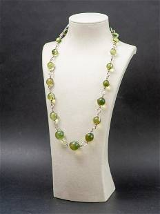 Caribbean Green amber necklace