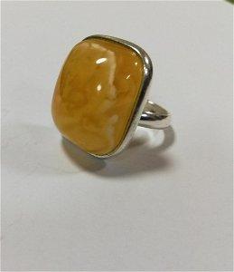 100% natural amber ring/ unique colour