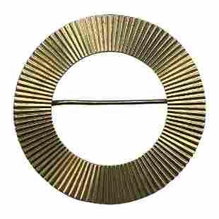 1940s Retro Tiffany & Co. Yellow Gold Eternity Circle