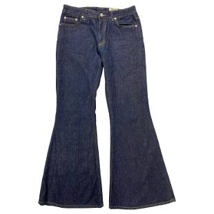 Acne Studios Mello Raw Long Flare Denim Jeans, Size 26