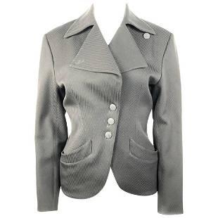 Alaia Black Wool Blazer Jacket Size 38