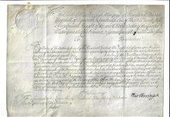 1714 Vellum Military Appointment Marlborough Canada