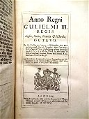 1696 Leather Volume English Acts Coins