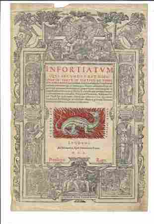 1550 Illustrated Title Leaf History Dragon