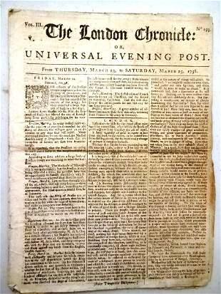 1758 London Chronicle Politics Literary