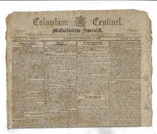 1803 Federalist Newspaper Louisiana