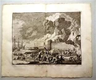 1730 Engraving Attack on Briel Netherlands