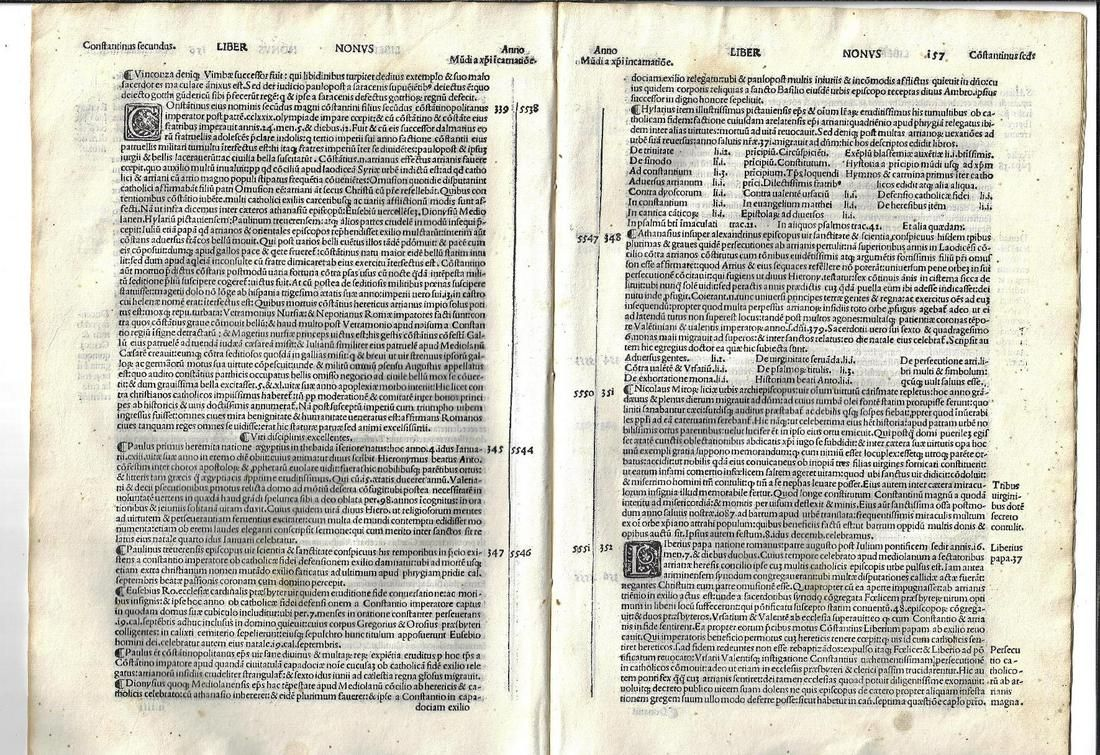 1513 Nine Leaves from Early Latin Chronicle