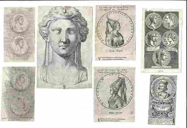 17th 18th C Engravings Roman Rulers Portraits
