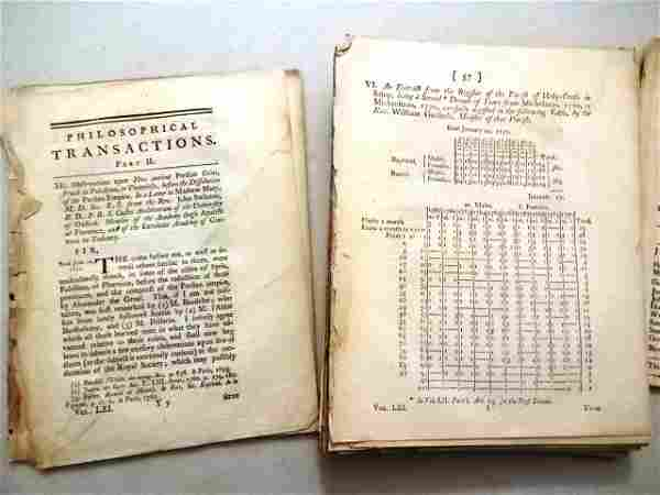 1771 Philosophical Transactions Essays Science