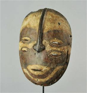 Very rare initiation BEMBE Mask Congo DRC African