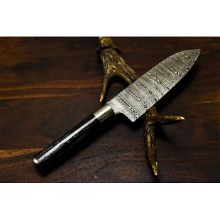 Kitchen chef full tang butcher damascus steel knife