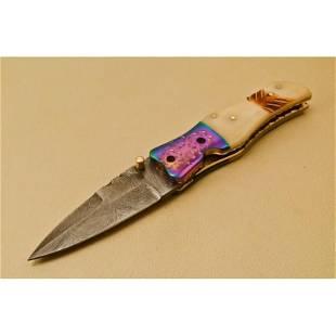 Skinner camping work damascus steel knife full tang