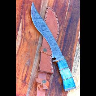 Pocket camping damascus steel knife everyday carry