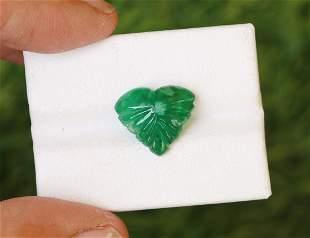 Natural & Unheated~ Green Emerald Carving Cabochon