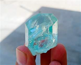 Natural & Unheated~ Blue Aquamarine Crystal