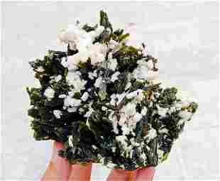 Natural & Unheated~ Green Epidote Crystal Bunch