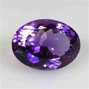 22.40 Ctw Natural Purple Amethyst Oval Cut