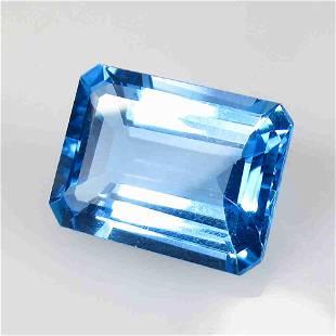 13.43 Ctw Natural Blue Topaz Octagon Cut