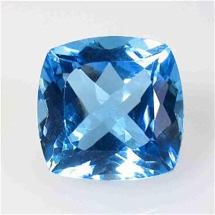 .36 Ctw Natural Blue Topaz Cushion Cut