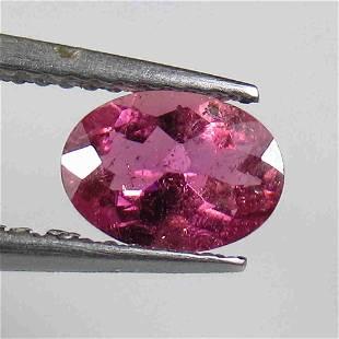1.00 Ctw Natural Pink Tourmaline Oval Cut