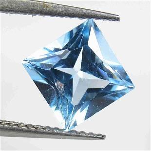3.26 Ctw Natural Blue Topaz Princess Cut