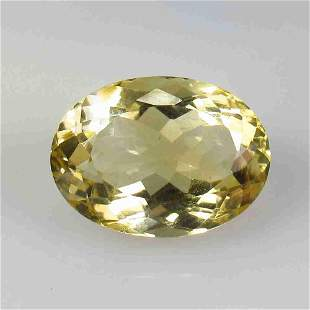 10.66 Ctw Natural Citrine Oval Cut