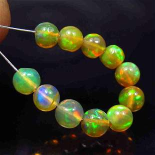 3.66 Ct Natural 11 Multi-Color Fire Opal Ball Beads