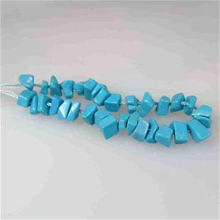 7.33 Ctw Natural 32 Turquoise Drilled Unshaped Beads