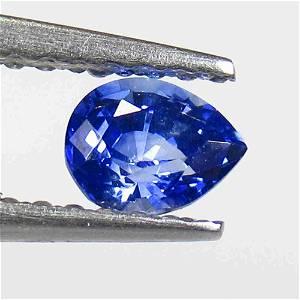 0.44 Ctw Natural Blue Sapphire Pear Cut