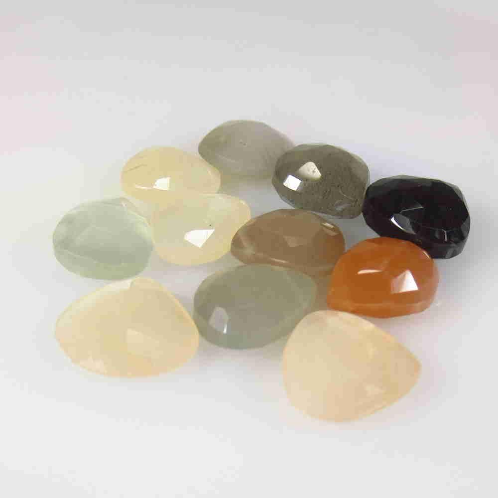 39.70 Ctw Natural 11 Drilled Moonstone Pear Beads