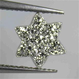 2.24 Ct Natural Silver Coated Agate Star Cut