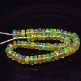 15.00 Ct Natural 66 Drilled Faceted Fire Opal Beads