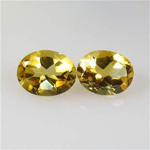 3.95 Ct Natural Citrine Oval Pair