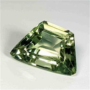 Natural Green Amethyst Fancy Cut 5.41 Ct