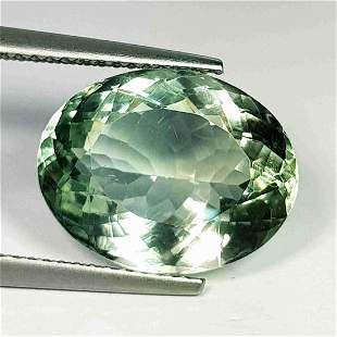 Natural Green Amethyst Oval Cut 8.54Ct