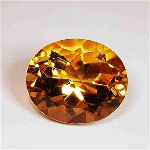 4.85 ct Natural Citrine Oval Cut