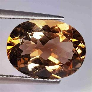 10.56 ct Natural Champagne Topaz Oval Cut
