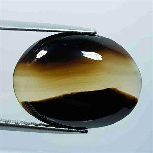 22.20 Ct Natural Black Lace Agate