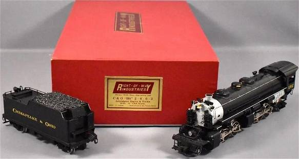 Right Of Way C&O 2-6-6-2 O-scale locomotive, Made in