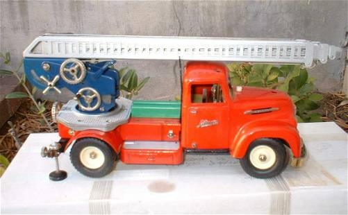Schuco 6080 fire engine, Made in Germany 1956-58,