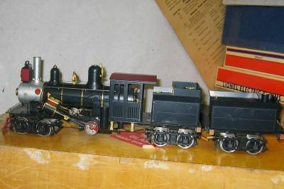 Aster Climax geared brass/steel locomotive, electric