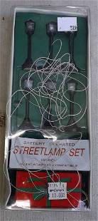 HO scale functional street lamp set.