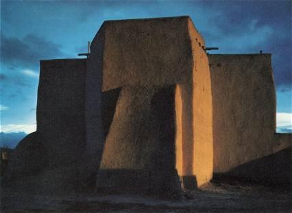 ANSEL ADAMS - St. Francis Church, Rancho de Taos