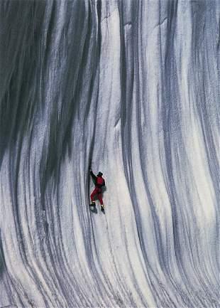 DIDIER GIVOIS - Climbing an Ice Wall, Tibet