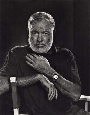 YOUSUF KARSH - Ernest Hemingway, 1957