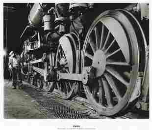 O. WINSTON LINK - Lubricating Locomotive 563, 1955