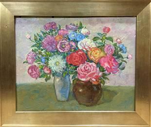 Oil painting Peonies Gaiduk Viktor Kirillovich
