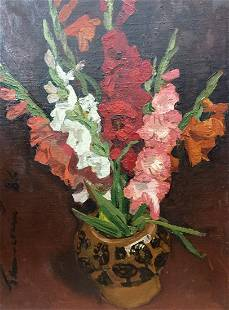 Oil painting Vase with Flowers Volsky Petr Dmitrievich
